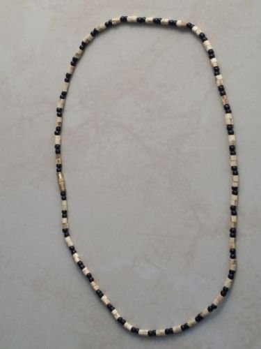 Tulsi Neck Beads Mixed With Black Beads [One loop around the neck]]
